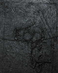 "Untitled XV. 27"" x 24"" mixed"